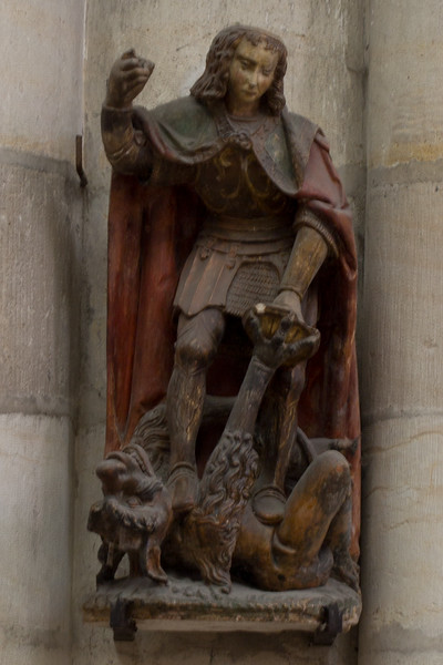 Troyes Saint-Urbain Basilica Saint-Michael Slaying the Dragon