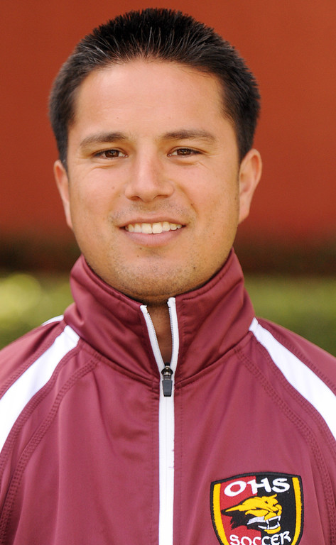 . Moses Venegas boys soccer coach for Ontario High School is coach of the year and has been named to Daily Bulletin\'s All-Valley Boy\'s soccer team. Will Lester staff photo.