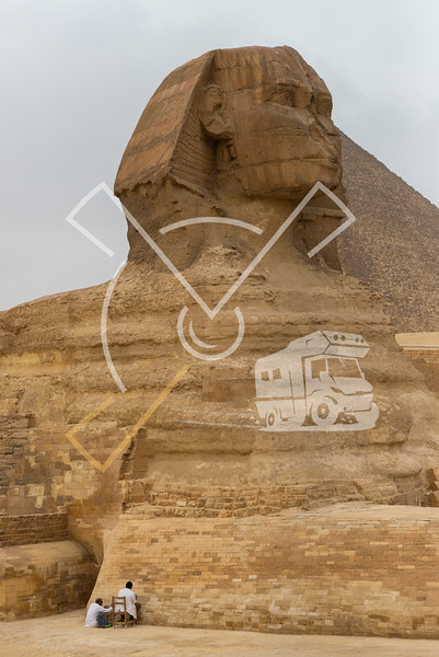 Restauration works on the Great Sphinx of Giza