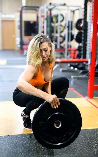 Carlie...gym day.