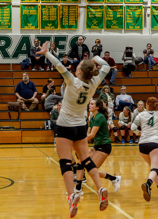 Game three, Set seven: Vashon Island High School Varsity Volleyball v Chimacum 09/20/2018