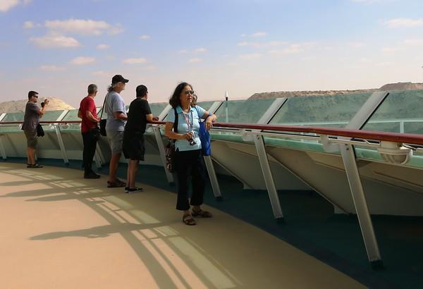 Passing Suez Canel