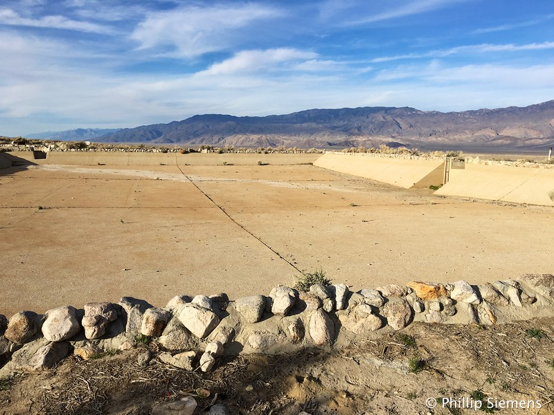 Manzanar water storage reservoir