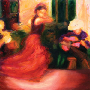 """Flamenco IX"" (oil on canvas) by Janey Fritsche"
