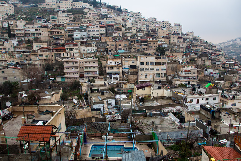Arab houses near Silwan, alleged location of King David's palace.