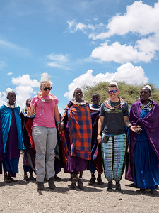 The girls playing with the Masai