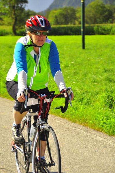 serious biking at hand by Joan