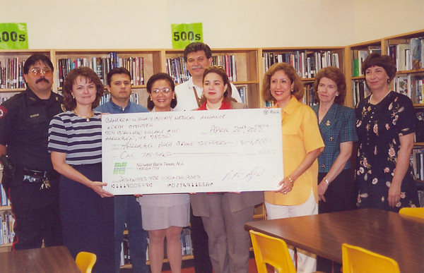 April 2000 Crime Stoppers Donation HHSS