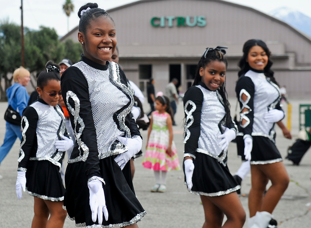 ". Step dancers perform during the 44th annual Black History Parade at the National Orange show in San Bernardino on Saturday, Feb. 2, 2013. Hosted by the Southern California Black chamber of Commerce, this year\'s parade theme marked tribute to the 50th anniversary of Dr. Martin Luther King Jr. speech, ""I Have a Dream.\""  (Staff file photo/The Sun)"