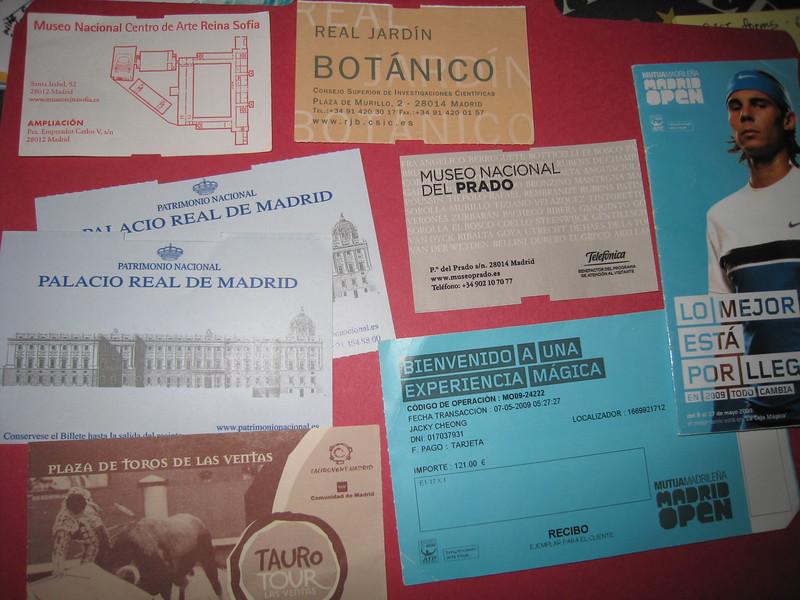 Madrid Receipts