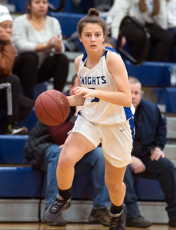 01/06/19 Wesley Bunnell   StaffrrSouthington girls basketball vs Conard on Monday night at Southington High School. Jessica Carr (5).