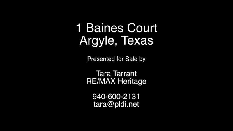 1 Baines Court, Argyle, Texas