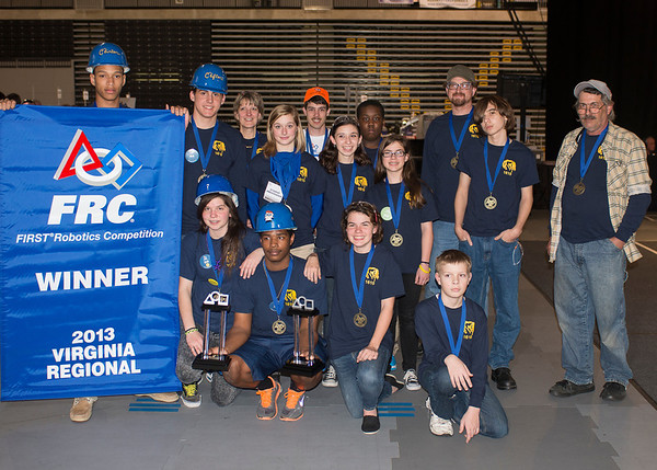FIRST Virginia FRC Final 3-16-2013 TEAM AND INDIVIDUAL  WINNERS