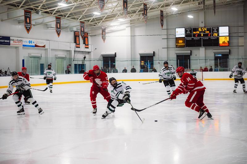 Holy Family Boys Varsity Hockey vs. Benilde-St. Margaret's, 12/26/19: Trey Fechko '22 (5)
