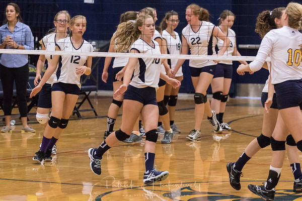 2017-08-28 Hillsdale Academy Girl's JV and Varsity Volleyball at Hillsdale