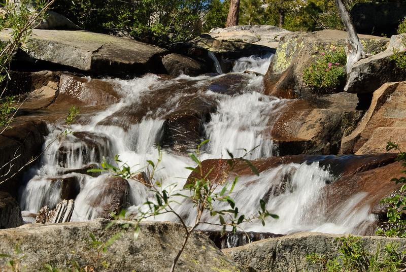 Section of Cascade Falls, leading into Cascade lake (Lake Tahoe).