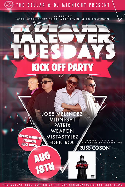 TakeOver Tuesday at CellarSF 8.18.15