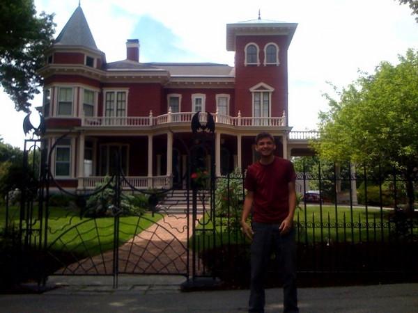 Ben in front of Stephen King's house 2.JPG