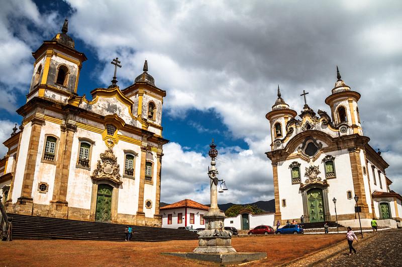 Pelourinho - Igreja São Francisco - Igreja Nossa Senhora do Carmo – Mariana.