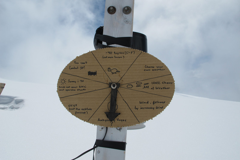 """""""Weather Report"""" at C3 (14,200ft = 4.328m)..."""