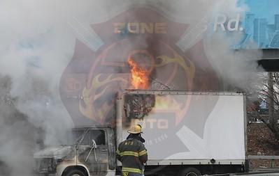 Massapequa F.D. Truck Fire  Sunrise Hwy. and Old Sunrise Hwy. 3/10/19