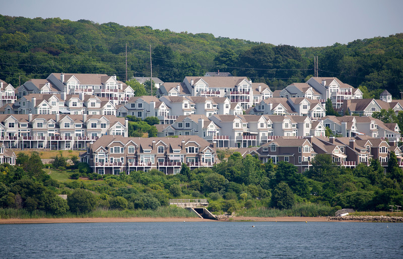 The less-than-super-wealthy also enjoy living on the water.