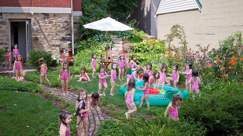 Freja; Lutz; Greensburg; PA; Pennsylvania; pool; party; inflatable; kid; play; playing; backyard; back; yard; garden; composite