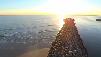 Drone Manasq Beach Sunrise Video...1.26.18