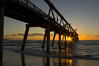 SUNRISE - The Sand Pumping Jetty Gold Coast QueenslanD Available as 70cm Poster - Smaller sizes available