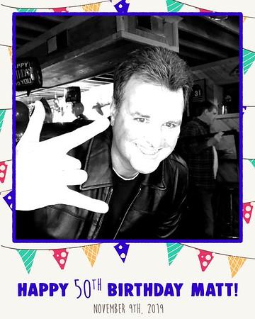Matt's 50th Birthday (11/09/19)