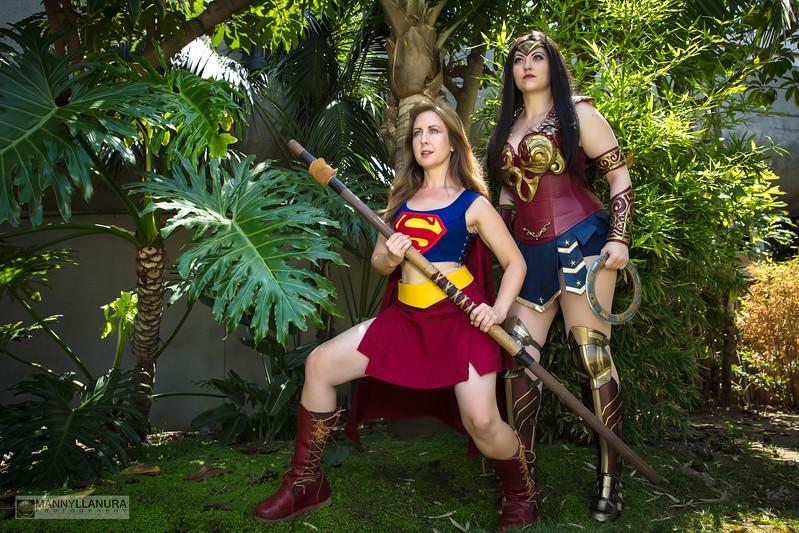 Xena/Wonder Woman, Gabriel/Supergirl Cosplay Mashup