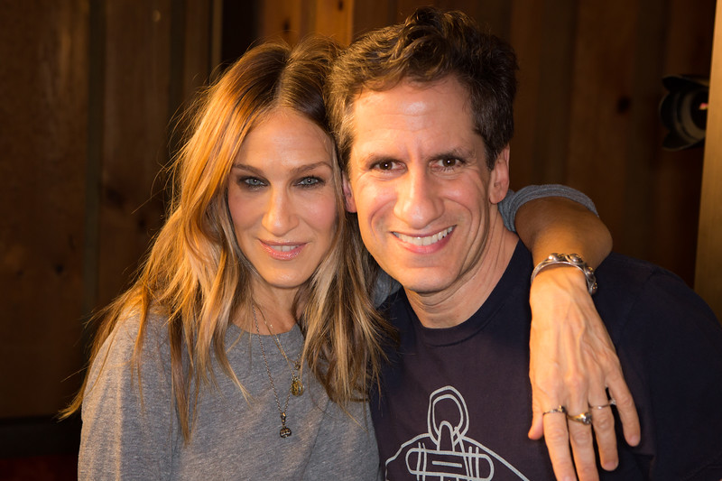 """Sarah Jessica Parker and Seth Rudetsky at the Broadway for Orlando benefit single recording of """"What the World Needs Now Is Love"""" - June 15, 2016 - Avatar Studios, NYC (Photo: Jeremy Daniel)"""