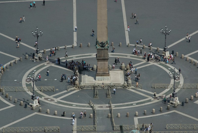 The obelisk at the center of St Peter's Square in Vatican City
