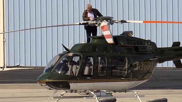 Harrison Ford Flies his Chopper