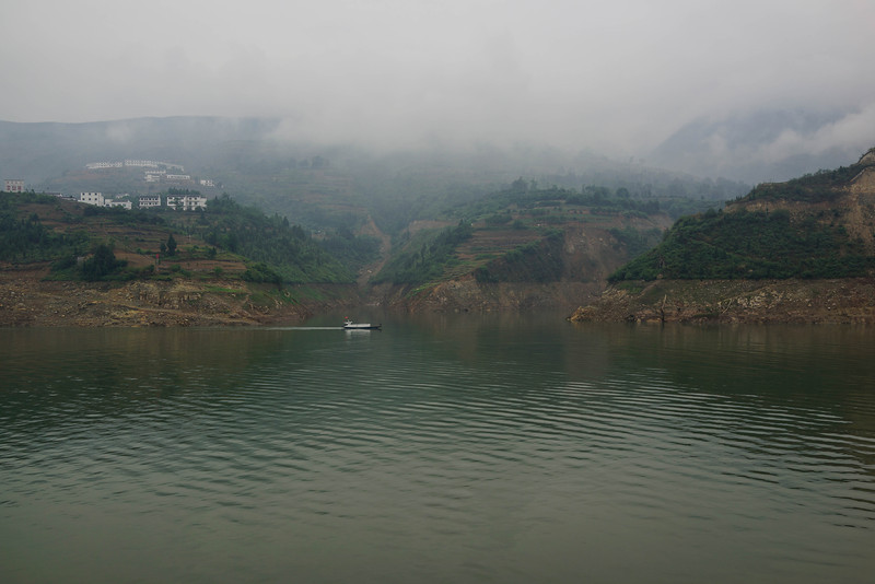 Small village on Yangtze River