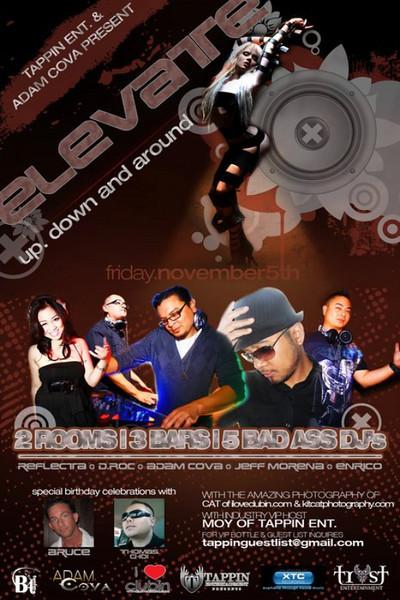 Tappin Entertainment & Adam Cova presents ELEVATE @ B4TWELVE 11.5.10