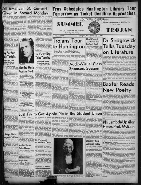 Summer Trojan, Vol. 33, No. 8, July 17, 1942