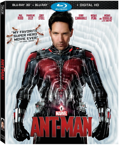 Marvel's tiniest hit ANT-MAN comes home December 8th on Blu-ray
