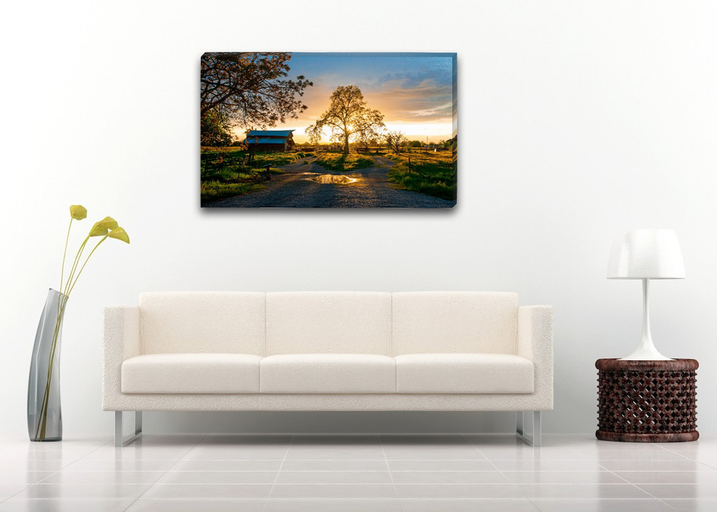 "$200    -    Painted in Orange    -    40"" x 24"" Gallery Wrap 1.5"" Canvas"