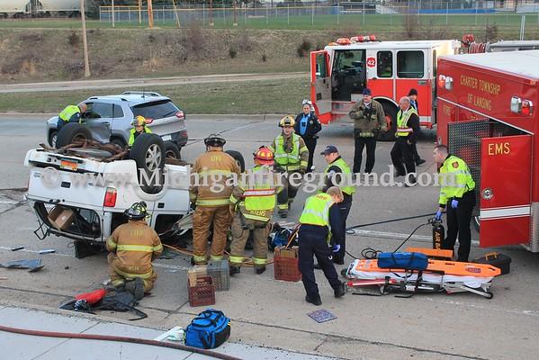 4/8/16 - Lansing Township extrication, Saginaw west of Stanley