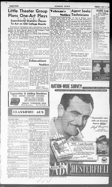 Summer News, Vol. 3, No. 8, July 09, 1948