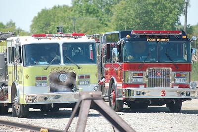 Port Huron Fire Hazmat training with Canadian National Railroad