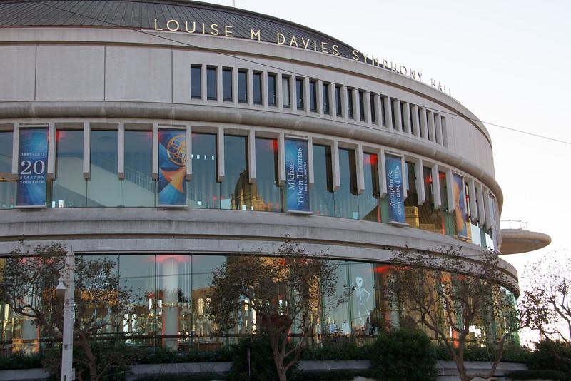 Symphony Hall orange interior lights