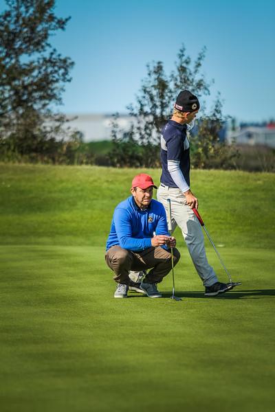 GKB, Ólafur Sigurjónsson, GK, Svanberg Addi Stefánsson  Íslandsmót í golfi 2019 - Grafarholt 2. keppnisdagur Mynd: seth@golf.is