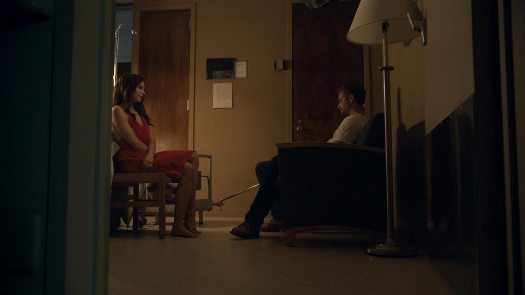 ". Paul Walker as Nolan Hayes and Genesis Rodriguez as Abigail in \""Hours.\"" (Photo credit: Pantelion Films 2013)"