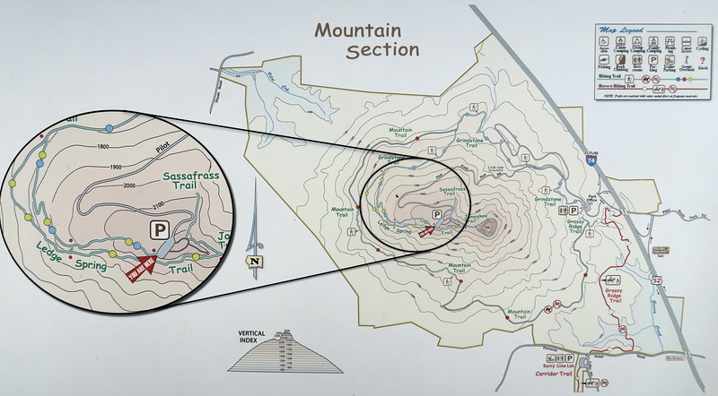Pilot Mountain State Park Trail Map