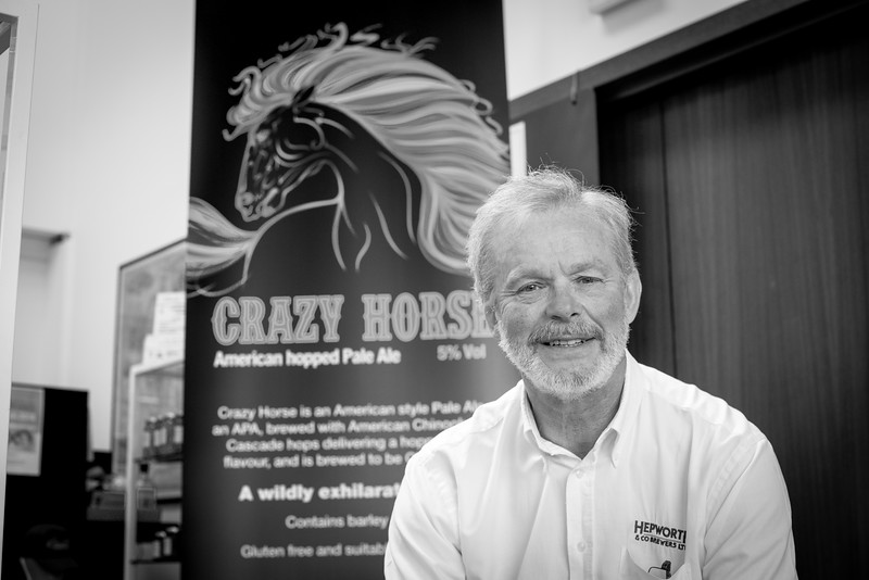 Hepworths Brewery. Stane Street, Billingshurst, West Sussex. Rh20 1DJ. Owners Andy & Christie Hepworth. New pale ale launch Crazy Horse. by Sophie Ward Photography 13.06.2018