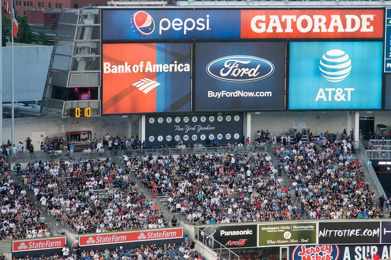 Yankees retired uniform numbers -- Yankee Stadium, the Bronx, NYC