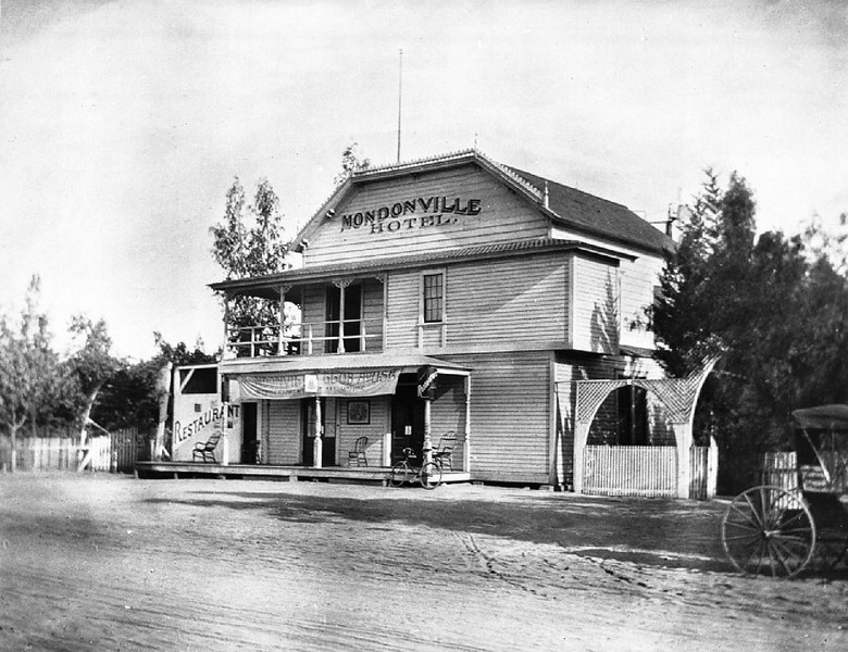 Mondonville Hotel on Washington Boulevard near Arlington Road, Los Angeles, ca.1896