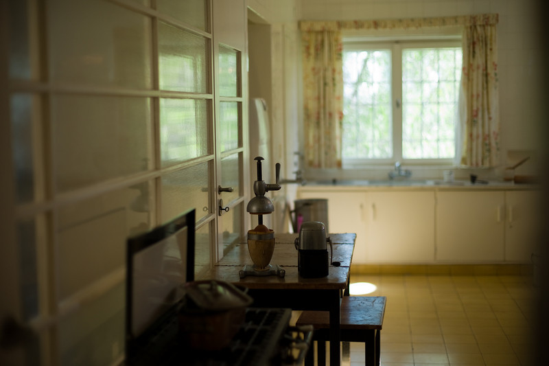 The kitchen at the Weizmann House.